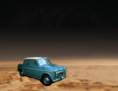 Wo kommt das Auto auf dem Mars her?