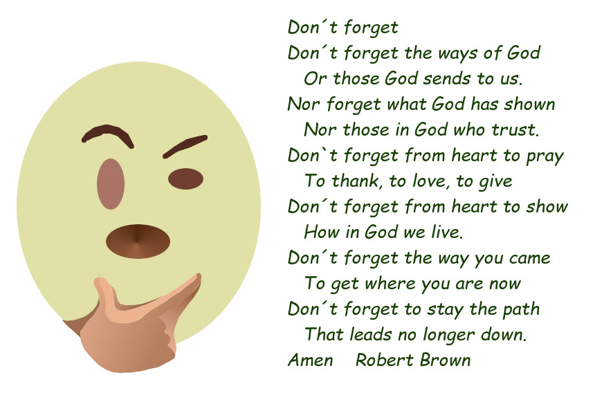 Don´t forget