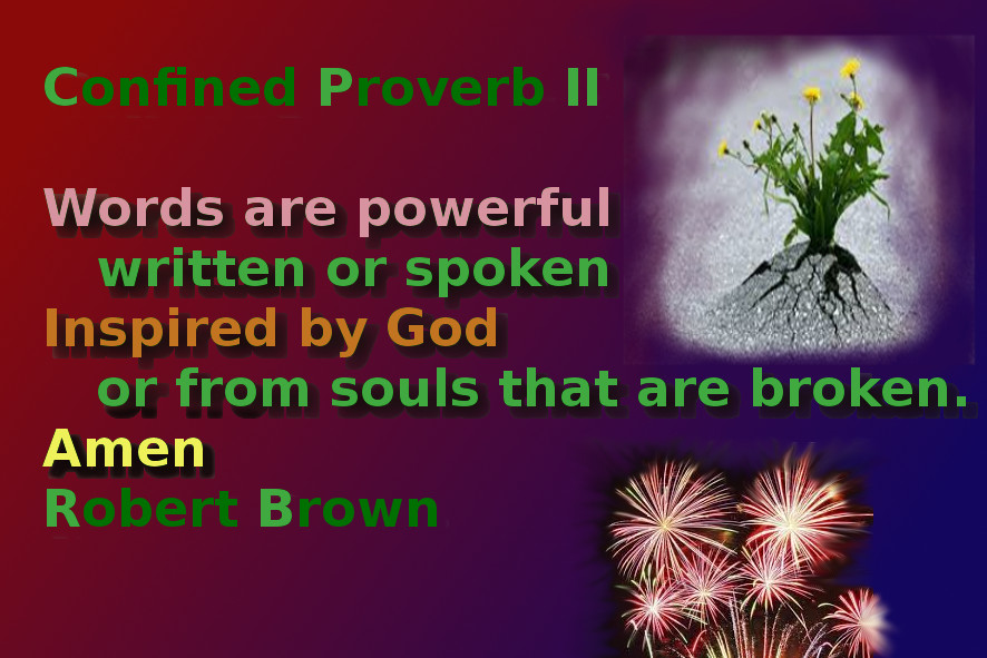 Confined Proverbs
