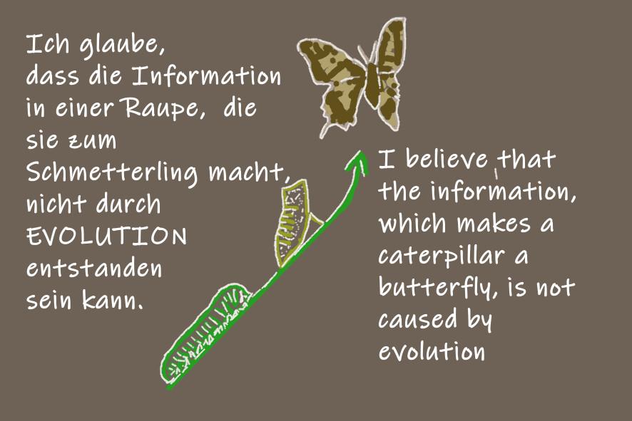 Ich glaube, dass die Information