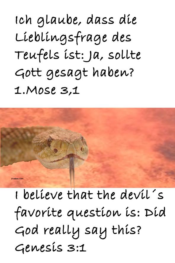 Ich glaube dass die Lieblingsfrage
