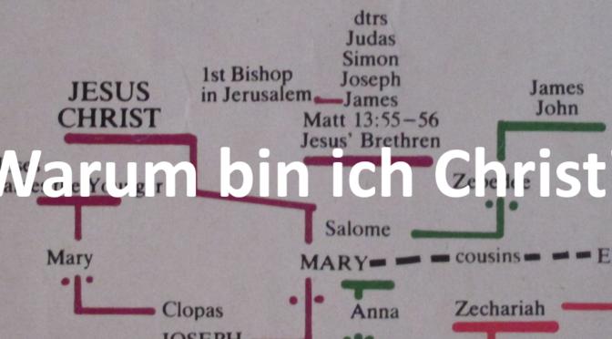 Warum bin ich Christ über Jesus-Stammbaum