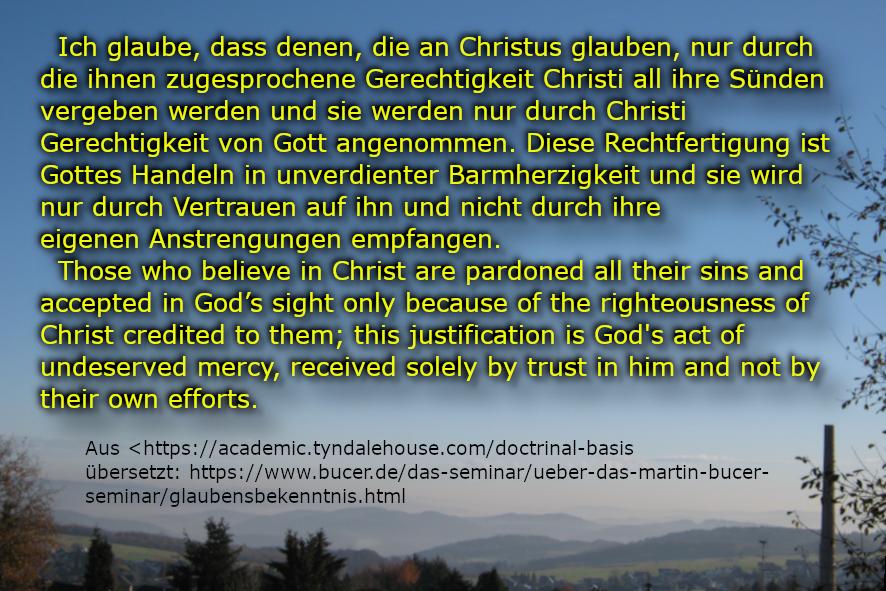 Ich glaube, dass denen die an Christus glauben